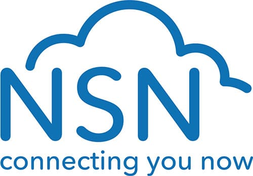logo with NSN connecting you now working below